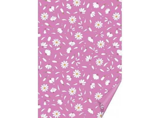 Karton růžový-sedmikráska