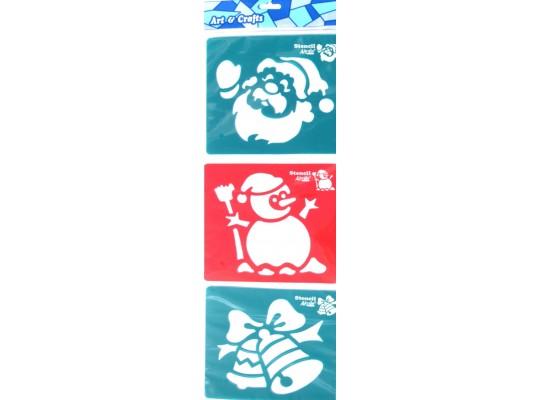 Šablona z plastu barevná-zima