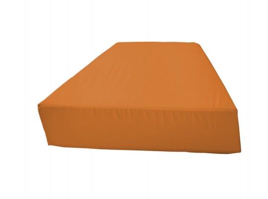 Sedací souprava lichoběžník bez opěradla Ramon-světle oranžová