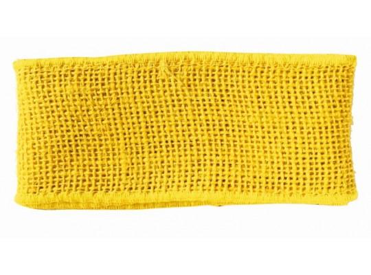 Stuha jutová žlutá
