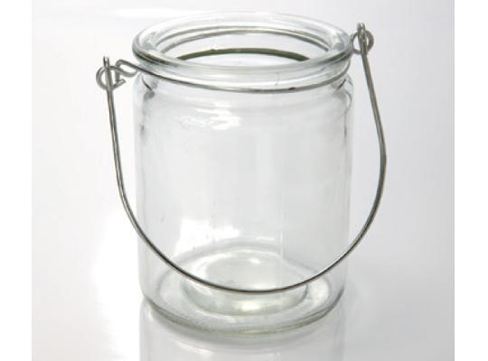 Lucerna skleněná-pr.8x10cm-závěsná