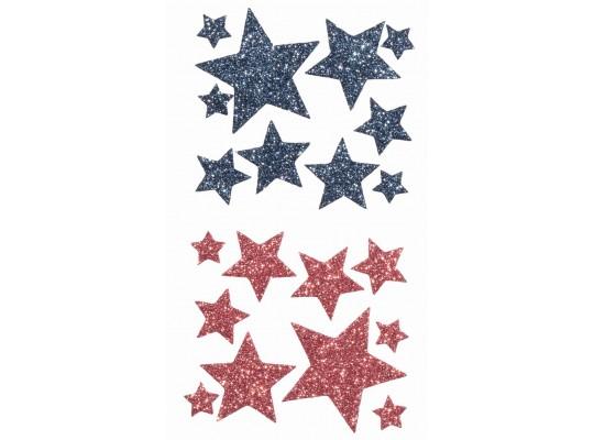 Pěnovka moosgummi samolepicí-hvězda barevná