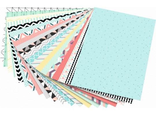 Blok motivy geometrické