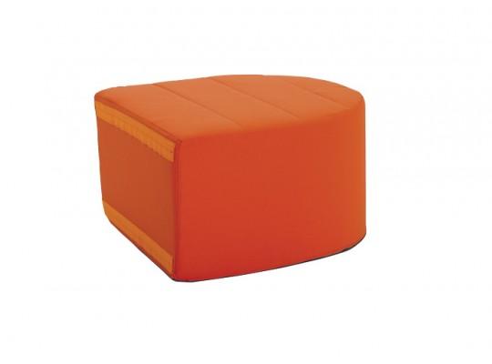 Sedací souprava velká koncová část bez opěradla Ramon-tmavě oranžová