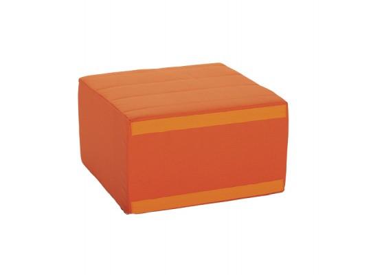 Sedací souprava velká čtvercová část bez opěradla Ramon-tmavě oranžová