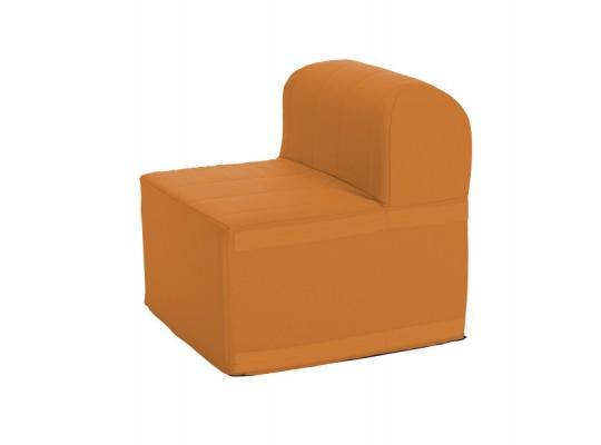 Sedací souprava velká čtvercová část s opěradlem Ramon-světle oranžová