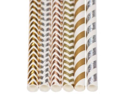 Brčko papírové-cik cak-zlatá/stříbrná/měděnápr.0,6x20cm