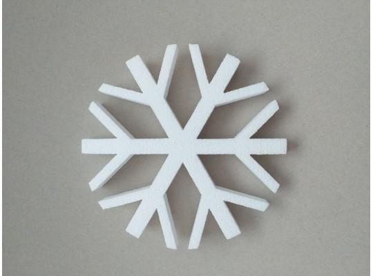 Vločka polystyrenová velká-výřez dekorační