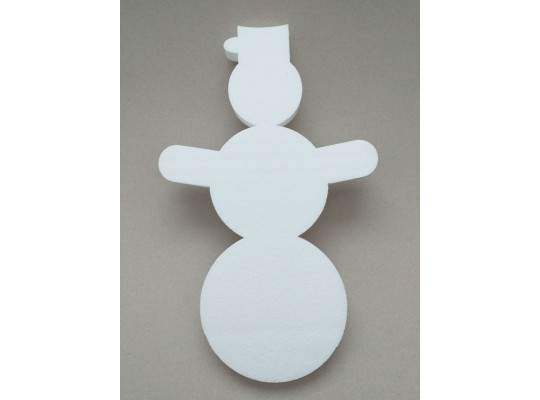 Sněhulák polystyrenový-výřez dekorační