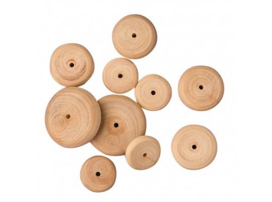 Kolečko dřevěné s dírkou-velké