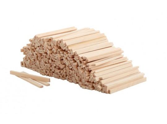 Tyčka dřevěná-přírodní hranatá