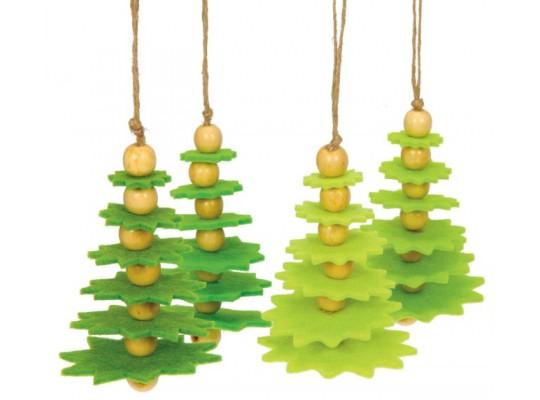 Dekorace filcová-strom vánoční-sada