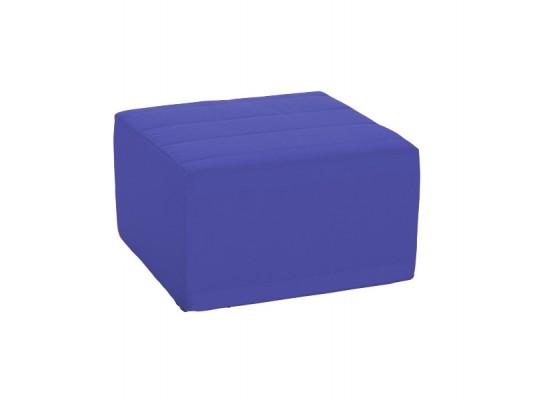 Sedací souprava velká čtvercová část bez opěradla Ramon-tmavě modrá