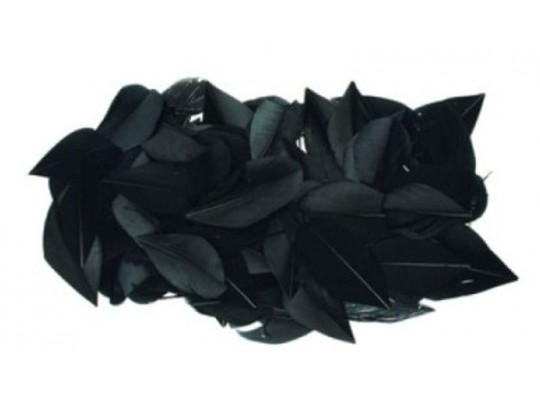 Peří dekorační-listy-černé