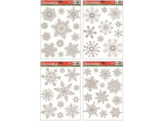 Fólie okenní-vločky stříbrné