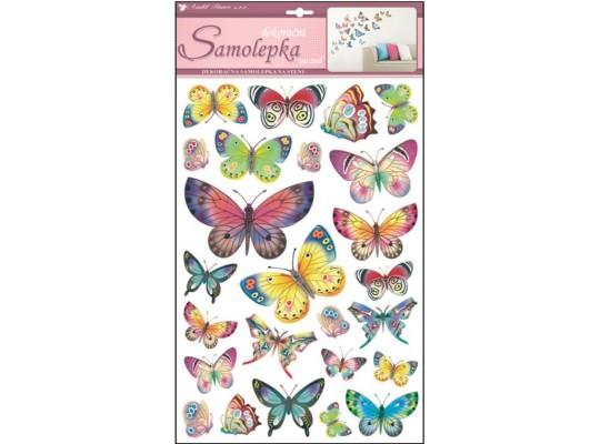 Samolepka na zeď-motýli barevní