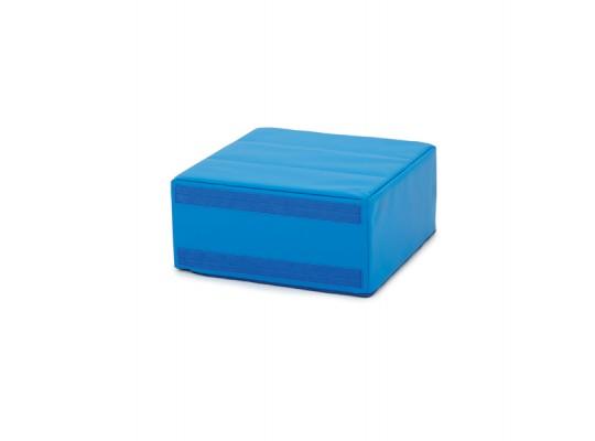 Sedací souprava malá čtvercová část bez opěradla koženka-modrá