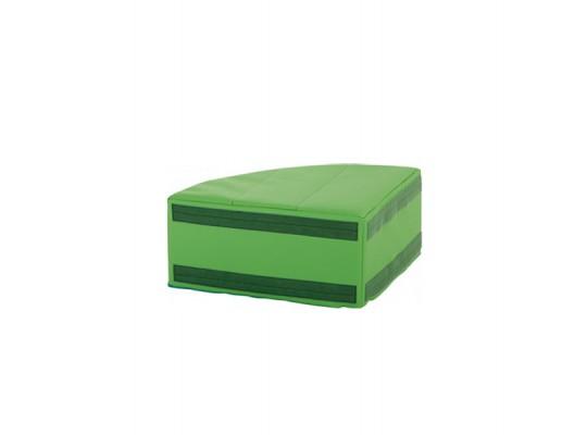 Sedací souprava malá rohová část bez opěradla koženka-zelená