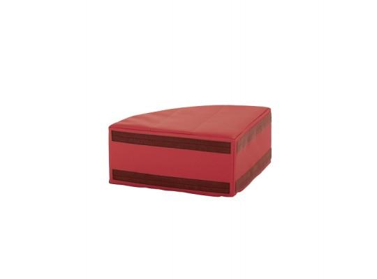 Sedací souprava malá rohová část bez opěradla koženka-červená