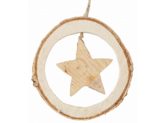 Ozdoba ze dřeva-hvězda