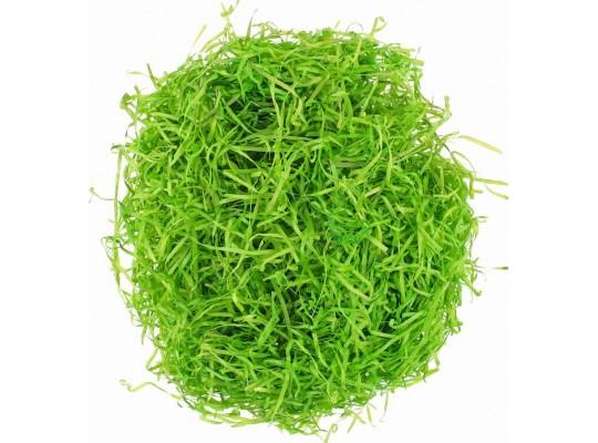 Tráva dekorační dřevěná-zelená