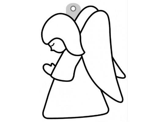 Sklíčko závěsné s konturou-anděl