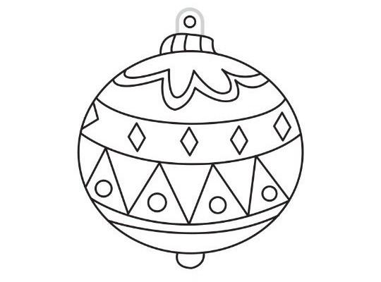 Sklíčko závěsné s konturou-ozdoba vánoční