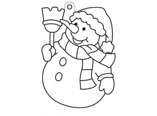 Sklíčko závěsné s konturou-sněhulák