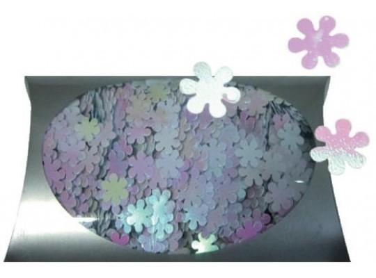Konfety dekorační-květiny duhové