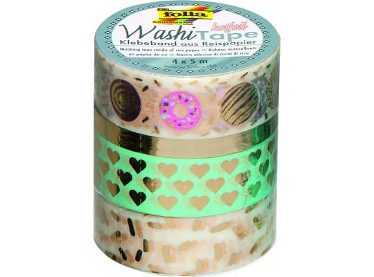 Páska dekorační Washi Tape Hotfoil-sada 1