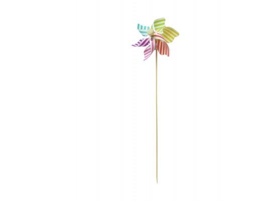 Zápich dřevěný-větrník s proužky