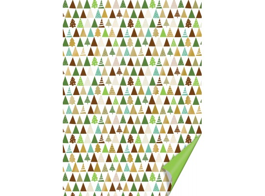 Karton vánoční-200g/m2-A4-stromky hnědé/zelené/zlaté