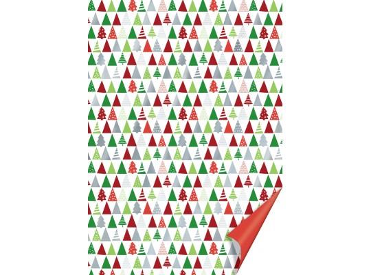 Karton vánoční-200g/m2-A4-stromky červené/zelené/stříbrné