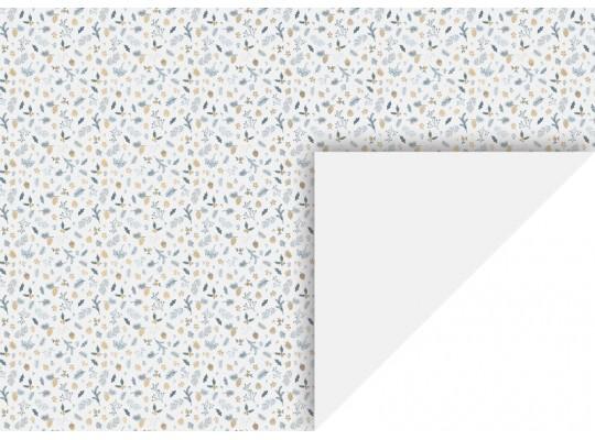 Fotokarton-300 g/m2-listy/plody/větve-bílý-50x70cm