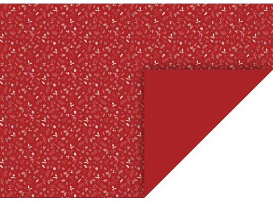 Fotokarton-300g/m2-listy/plody/větve-červený-50x70cm