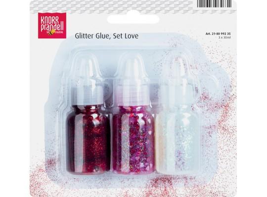 Lepidlo glitrové s konfetami-sada Love 30 ml