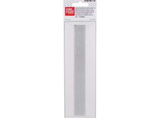 Fólie vosková-2mmx20cm-stříbrná-proužek-perly