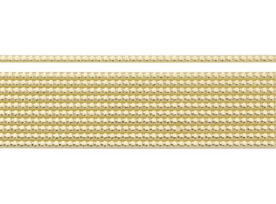 Plát voskový-0,2x20cm-zlatý-perly