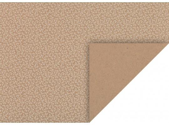 Karton kraftový-220g/m2-jmelí bílé/zlaté glitry-50x70cm