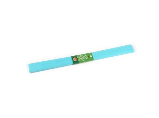 Papír krepový-200x50cm-azurový světlý