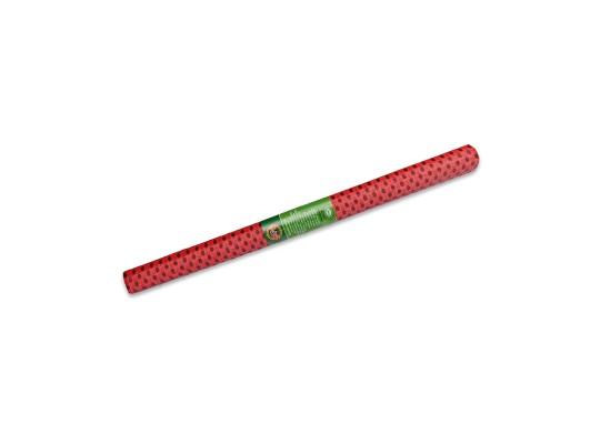 Papír krepový-200x50cm-červený/puntíky černé