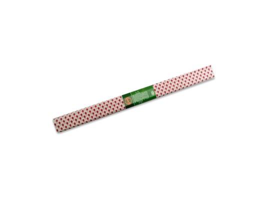Papír krepový-200x50cm-bílý/puntíky červené