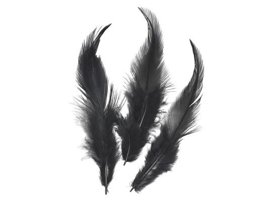 Peří dekorační jemné-černé