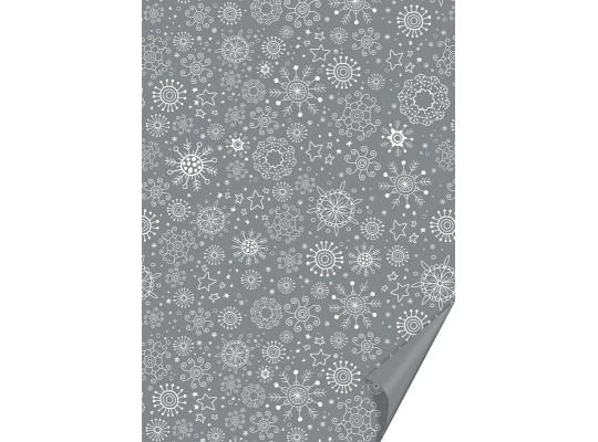 Fotokarton-50x70cm-vločky stříbrný-300g/m2