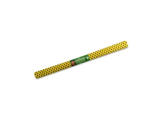 Papír krepový-200x50cm-žlutý/puntíky černé