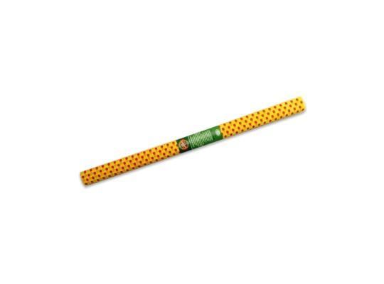 Papír krepový-200x50cm-žlutý/puntíky červené