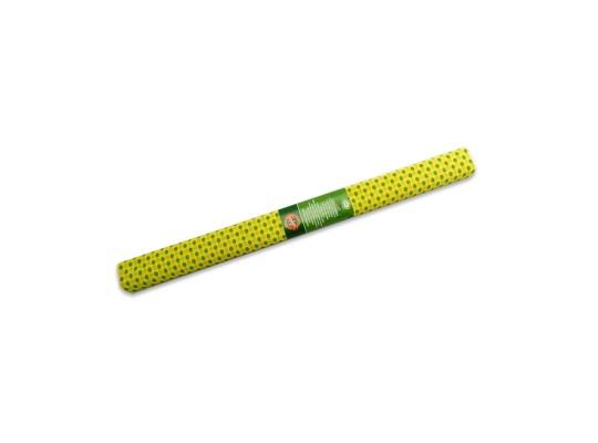 Papír krepový-200x50cm-žlutý/puntíky zelené