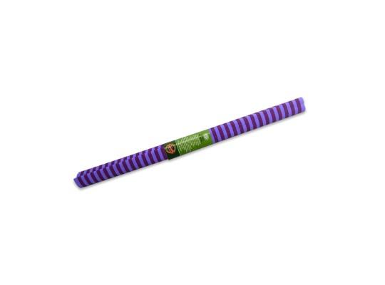 Papír krepový-200x50cm-pruhy-fialové