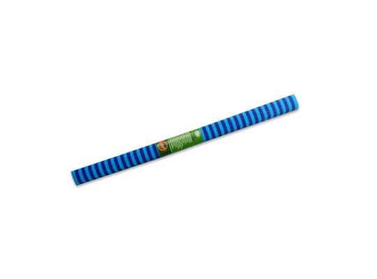 Papír krepový-200x50cm-pruhy-modré