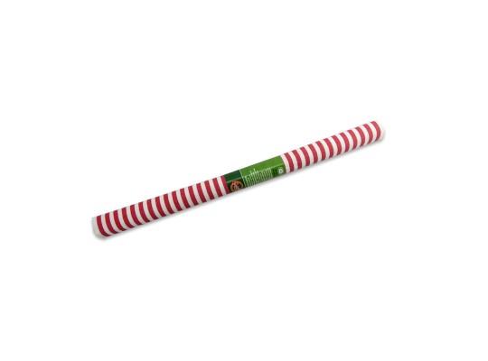 Papír krepový-200x50cm-pruhy-červené/bílé